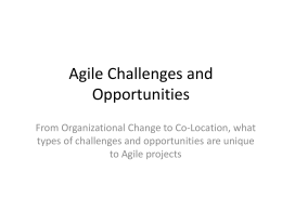 The Agile World: Obstacles and Challenges