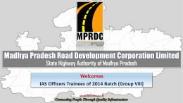 MPRDC * State Highway Authority of MP