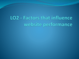 LO2 Understand the factors that influence
