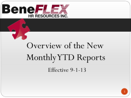 Monthly YTD Report – PowerPoint