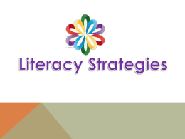 Literacy strategies – Power