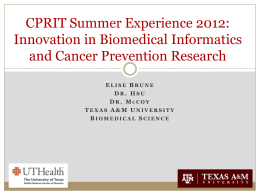 PowerPoint Presentation - University of Texas School of Public Health