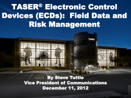 International TASER Risk Management