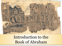 9-Intro to Book of Abraham