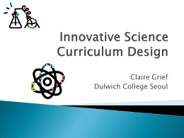 PowerPoint Presentation - Creative Curriculum JAM @ DUCKS