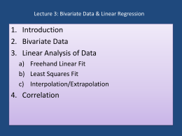 Lecture 1: Basic Descriptive Statistics