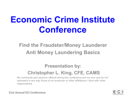 Economic Crime Institute Conference