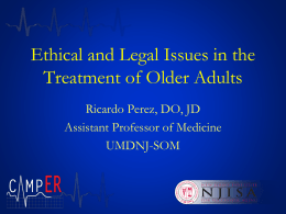Ethical and Legal Issues in the Treatment of
