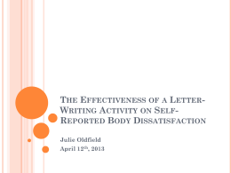 The Effectiveness of a Letter-Writing Activity on Self
