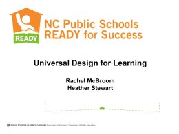 Universal Design for Learning - rt3region4