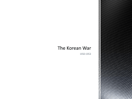 The Korean War - Notes and Activity