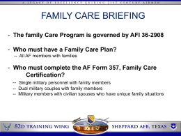 Family Care Brief Example