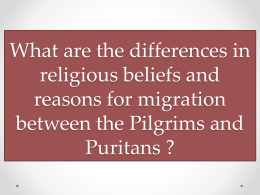 Puritans vs Pilgrims
