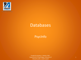 Databases: PsycInfo