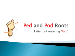 Ped-and-Pod-Roots