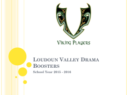 Loudoun Valley Drama Boosters School Year 2015