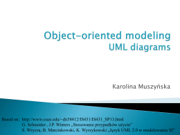 Object-oriented modeling UML diagrams
