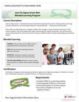 Lean Six Sigma Green Belt Blended Learning Program Course