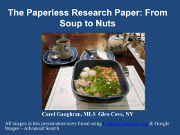 The Paperless Research Paper: From Soup to Nuts