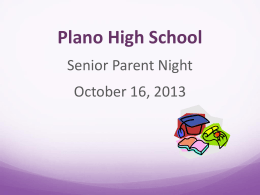www.careercruising.com - Plano High School Student Services