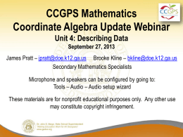 Co - Georgia Mathematics Educator Forum