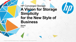Download: Converged Storage Overview