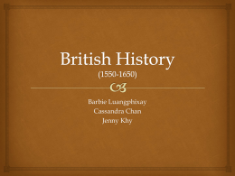 British History (1550-1650) - Letter-Bii