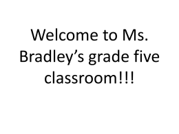 Welcome to grade five!!!