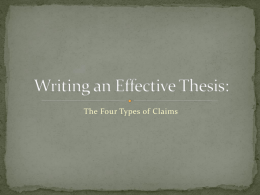 ENG121 - Effective Thesis Statements