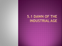 5.1 Dawn of the Industrial Age - Moore