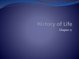 Ch. 17 Powerpoint (History of Life)