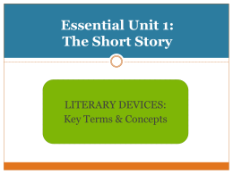 Essential Unit 1: The Short Story