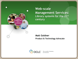 Web Scale Management Service and You
