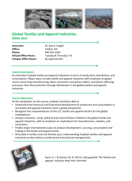 Global Textiles and Apparel Industries MDSE 4010