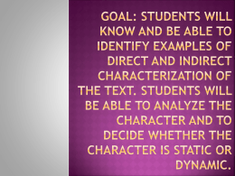 Goal: Students will know and be able to identify examples of direct