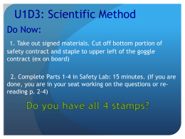 U1D3: Scientific Method