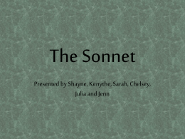 The Sonnet - Miguel Powers