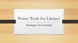 Power Tools for Literacy