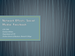 Network Effects, Social Media - Baruch College Faculty Web Server