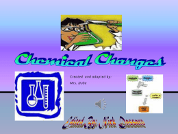 Chemical Reactions - Grace Wilday Junior High School