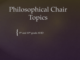 Philosophical Chair Topics