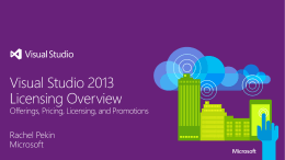 Visual Studio 2013 Licensing Overview