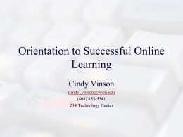 Orientation to Successful Online Learning