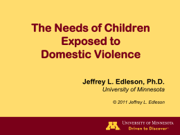Assessing Childhood Exposure to Domestic Violence