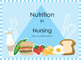 Nutrition in Nursing - Career Educational Pathways