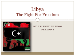 Libya The Revolution - Revolutions-past-present