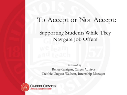 To Accept or Not Accept - Division of Student Affairs