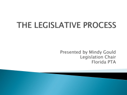 Understanding the Legislative Process