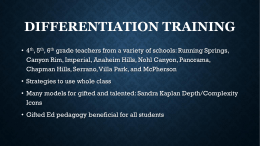 Differentiation Training