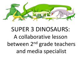 Super3 Dinosaur Lesson Plan